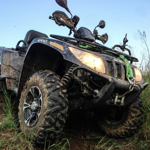 atv in mud